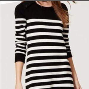 LOFT Striped Sweater Dress